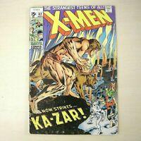 X-Men #62, VG 4.0, Ka-Zar; 1st appearance Savage Land Mutates