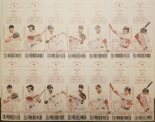2018 WORLD SERIES CHAMPIONS BOSTON RED SOX FULL UNCUT REGULAR SEASON TICKETS