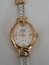 Nolan Miller Silver-tone Watch w Crystals,Gold-tone Accent Matching Bracelet