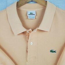 LACOSTE Size 9 3XL Mens Polo Shirt Short Sleeve Peach Pima Pique Cotton Golf