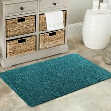NEW WASHABLE NON SLIP SHAGGY LIVING ROOM RUGS HALL RUNNER UTILITY BATHROOM MAT