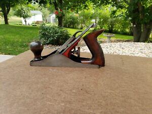 """Dunlap 9"""" Smoothing Plane USA 3DBB Vintage Carpenters Wood Woodworking Tool"""
