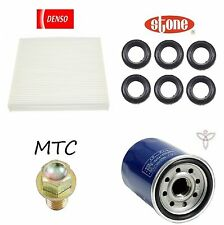Tune Up Kit Cabin Air Oil Filters Plug Tube Seals for Acura RDX 2013-2014