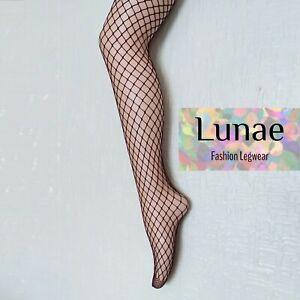 fishnet tights medium-net LUNAE burgundy dark red UK size 8/10/12/14