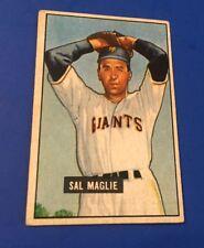 1951 Bowman Sal Maglie RC #127 New York Giants Baseball Card EX