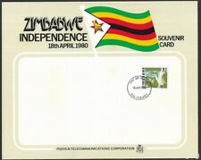 More details for zimbabwe 1980 independence souvenir card cto fdi  unused