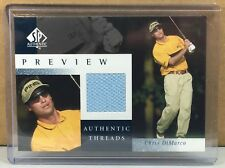 New listing 2001 SP AUTHENTIC PREVIEW AUTHENTIC THREADS #CD-AT CHRIS DIMARCO GOLF SHIRT