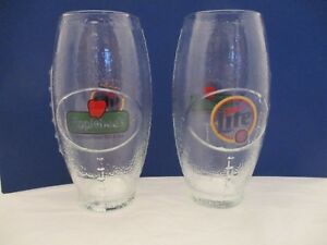 Set of 2 Miller Lite & Applebees Football Shaped Clear Glasses Man Cave Party