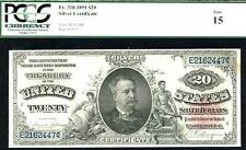 1891, $20 Fr 318 Silver Certificate - Pcgs-15-just 30 in higher grade