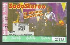 Argentina Soda Stereo Concert Ticket Stub 2007