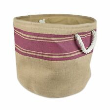 DII Collapsible Burlap Storage Basket or Laundry Bin 15x12 inch Toy Box organize