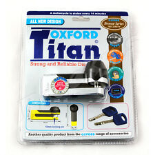 Oxford Titan Silver Disc Lock w/ 2 Keys & Carry Pouch