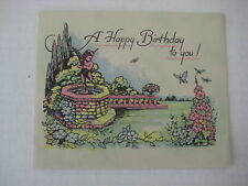 Vintage Birthday Card, A Happy Birthday To You - Unused