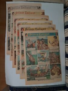full year large panel 1941 sunday newspaper pages PRINCE VALIANT Harold Foster