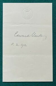 Antique Signed Page Sir Edward Clarke 1912 Barrister for Oscar Wilde Queensberry