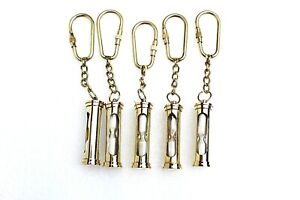 Brass Sand Timer Key Ring Set Of Five For Thanks Giving Gift