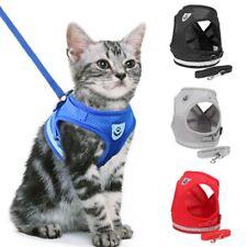 Cat Dog Collar Belt Adjustable Pets Harness Vest Walking Lead Leash Puppy kitten