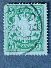 Bavaria   Scott #39, (Embossed)  COAT of ARMS stamp  -  Used