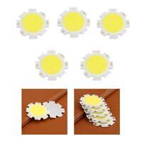 5 pcs Pure White Round COB Super Bright LED SMD Chip Light Lamp Bulb DI
