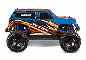 Traxxas 76054-5 LaTrax Teton 1/18 Scale 4WD Monster Truck blue/orange