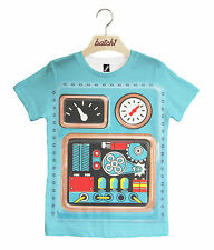 Batch1 Robot Costume All Over Print Halloween Fancy Dress Kids Unisex T-shirt 3-4 Years
