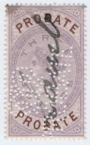 (I.B) QV Revenue : Probate Court £3 (1878)