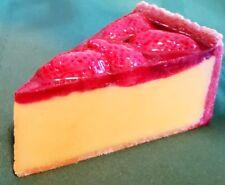 "Amazing 5"" Artificial Ceramic Strawberry Cheesecake Display"