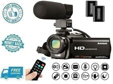 New Video Camera Camcorder Full HD 1080P 30FPS Digital Vlogging Cam w Microphone