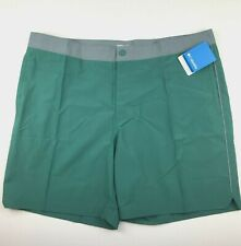 "Columbia Mens 42"" W 8""Ins Green Gray Lakedale Cove Omni Shield Casual Shorts $60"