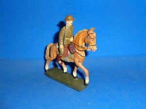 Lineol 7cm U.S. Officer Mounted on Horseback Elastolin