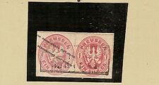 Pr / Mi.-Nr. GAA 15  + 16 / 1 Sgr. Wappen-GAA, viereckig geschnitten als wertstu