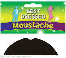 Mens Stick On Fake False 1920s Charlie Chaplin Fancy Dress Costume Moustache (8)