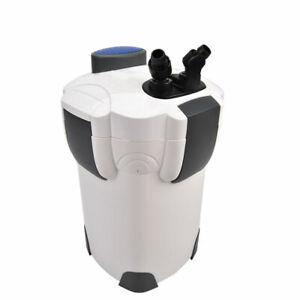 3-Stage External Canister Filter 265 GPH Fresh/Salt 75 GAL Aquarium Open Box