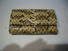 Vintage Genuine Snake Skin Leather 6 Key Chain Case Zippered Coin Compartment