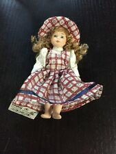Schylling Porcelain Posable Country Doll New With Tag