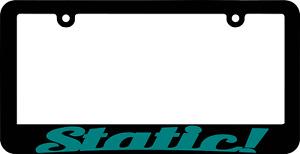 Static! JDM License Plate Frame
