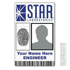 PERSONALISED Printed Novelty ID- THE FLASH S.T.A.R Labs. TV Series Identity Card
