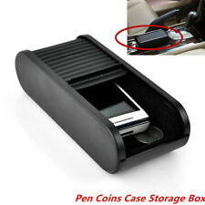 Car Roll Plastic Pocket Sliding Dash Phone Pen Paper Money Coins Keys Case Box
