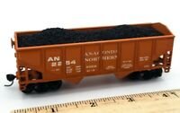 HO Scale Model Train Anaconda Northern 2254 Orange Loaded Hopper Model