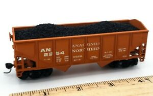 HO Scale Model Train Anaconda Northern  Hopper 2254 Orange Loaded