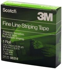 "3M 06314 Scotch 1"" x 550"" Fine Line Striping Tape with 8 Pull Outs"
