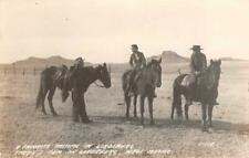 RPPC LORDSBURG New Mexico Ranch, Cowboys, Horses Vintage Photo Postcard