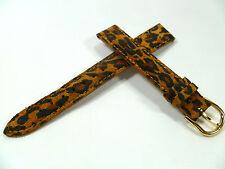 14 mm brun multicolore léopard OPTIQUE Bracelet montre boucle de pin SUEDE