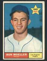 1961 Topps #466 Ron Moeller VGEX RC Rookie Angels 48356