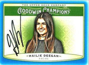 HAILIE DEEGAN  -  Autographed [h6]  2019 UD Goodwin Champions  Card #67