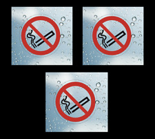 3 pcs No Smoking Transparent Vinyl Adhesive Clear Stickers, 90 mm NST90