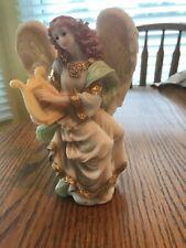 "Seraphim Angel Figurine by Roman 1993 Gymbeline Peacemaker 6.5"" Tall #67091"