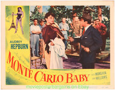MONTE CARLO BABY  LOBBY CARD 11X14 Size Movie Poster Card #8 AUDREY HEPBURN