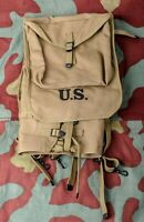 US haversack M28 zaino tattico, WW2 M1928 Army khaki webbing infantry rucksack