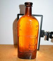 Vintage WARNERS SAFE KIDNEY & LIVER CURE Bottle Amber Medical Collectibe Quack